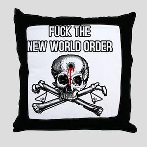 illuminati new world order 911 Throw Pillow