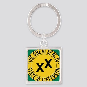 Jefferson State Square Keychain