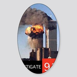 illuminati new world order 911 Sticker (Oval)