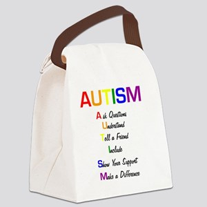 Autism Ask Questions Canvas Lunch Bag
