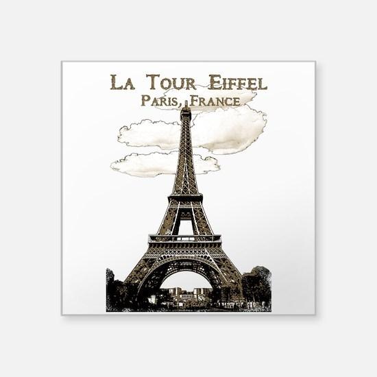 Eiffel Tower-Paris-France-1-Sepia Sticker