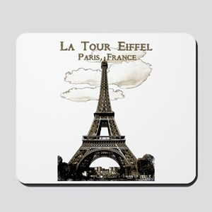 Eiffel Tower-Paris-France-1-Sepia Mousepad