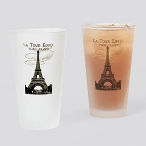 Eiffel Tower-Paris-France-1-Sepia Drinking Glass