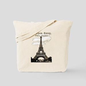 Eiffel Tower-Paris-France-1-Sepia Tote Bag