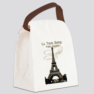 Eiffel Tower-Paris-France-1-Sepia Canvas Lunch Bag