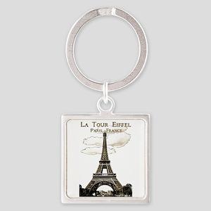 Eiffel Tower-Paris-France-1-Sepia Keychains