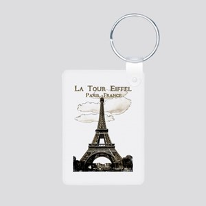 Eiffel Tower-Paris-France-1-Sepia Keychains