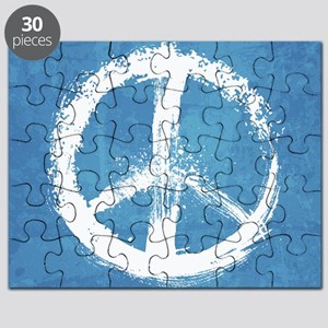 Grunge Peace Sign Puzzle