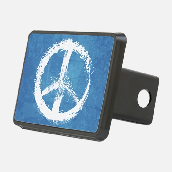 Grunge Peace Sign Hitch Cover
