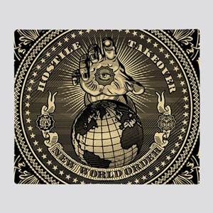 illuminati new world order 911 Throw Blanket