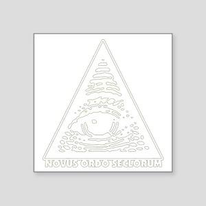 "illuminati new world order  Square Sticker 3"" x 3"""