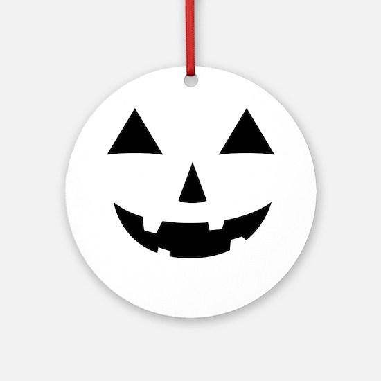 Jack-O-Lantern Maternity Tee Round Ornament