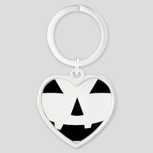 Jack-O-Lantern Maternity Tee Heart Keychain
