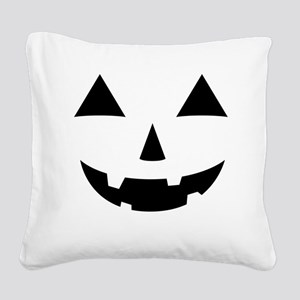 Jack-O-Lantern Maternity Tee Square Canvas Pillow