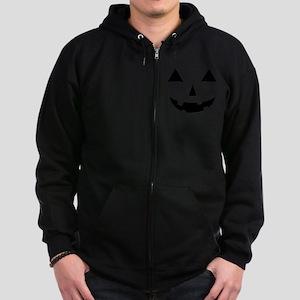 Jack-O-Lantern Maternity Tee Zip Hoodie (dark)