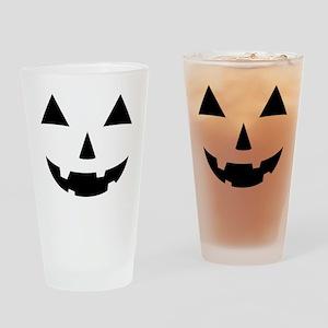 Jack-O-Lantern Maternity Tee Drinking Glass