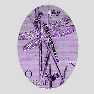 Vintage 1979 Sweden Dragonfly Postag Oval Ornament