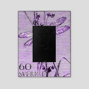 Vintage 1979 Sweden Dragonfly Postag Picture Frame