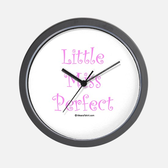 Little Miss Perfect Wall Clock