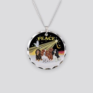 X-Dove - Four Cavaliers Necklace Circle Charm