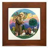 Saint francis Framed Tiles