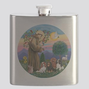 St Francis / 4 Cavaliers Flask