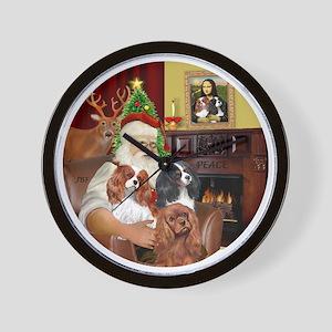 Santa-3Cavaliers Wall Clock