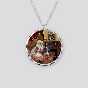 Santa-3Cavaliers Necklace Circle Charm