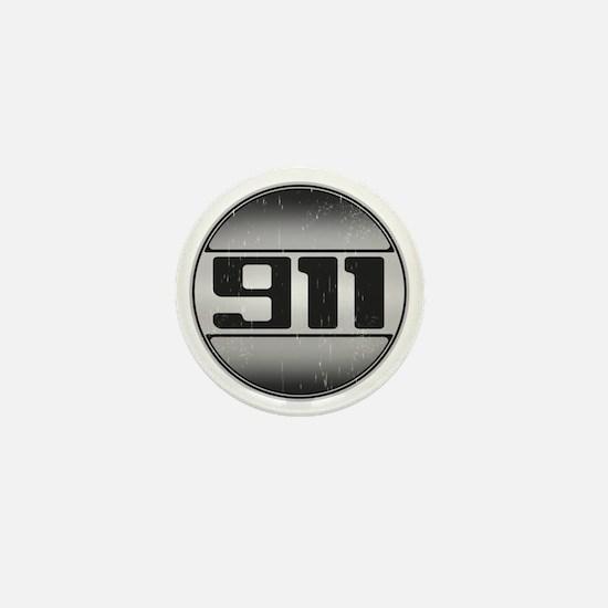 911 copy dark Mini Button