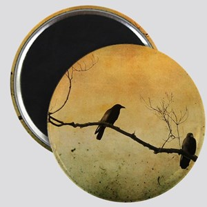 Two Crows On A Branch Magnet