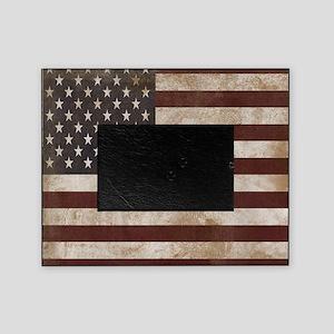 Vintage American Flag King Duvet 1 Picture Frame