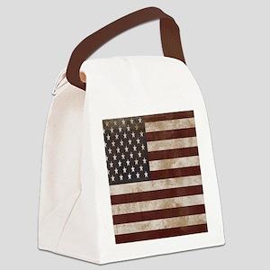 Vintage American Flag King Duvet  Canvas Lunch Bag