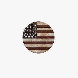 Vintage American Flag King Duvet 1 Mini Button