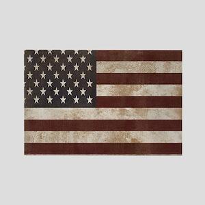 Vintage American Flag King Duvet  Rectangle Magnet