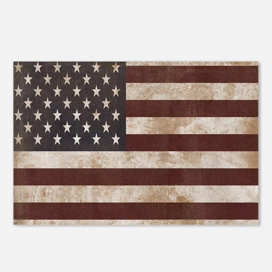 Vintage American Flag Kin Postcards (Package of 8)