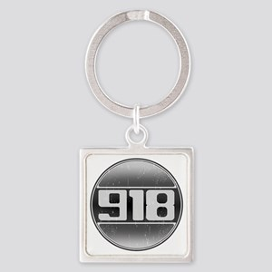 918 copy Square Keychain