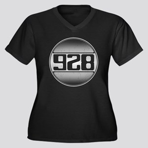 928 copy dar Women's Plus Size V-Neck Dark T-Shirt