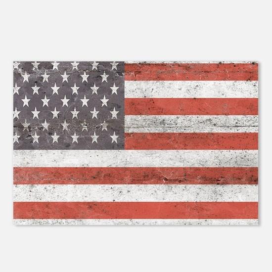 Vintage American Flag Postcards (Package of 8)
