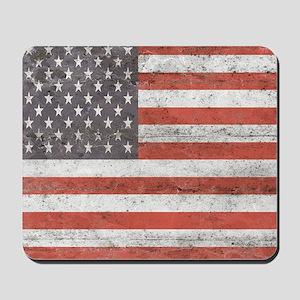 Vintage American Flag Mousepad