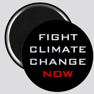 "Fight Climate Change Now 2.25"" Round Magnet"