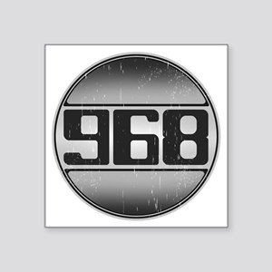 """968 copy dark Square Sticker 3"""" x 3"""""""