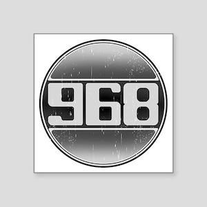 "968 opy Square Sticker 3"" x 3"""