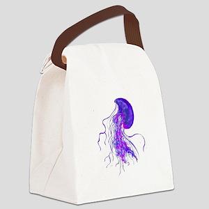 PURPLE PULSE Canvas Lunch Bag