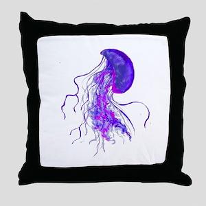 PURPLE PULSE Throw Pillow