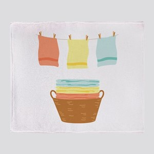 Clothes Line Throw Blanket