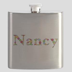 Nancy Bright Flowers Flask