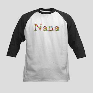 Nana Bright Flowers Baseball Jersey