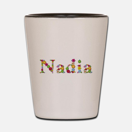 Nadia Bright Flowers Shot Glass