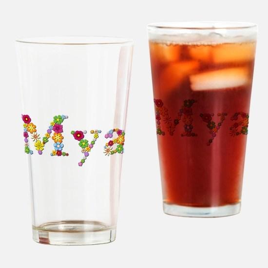 Mya Bright Flowers Drinking Glass