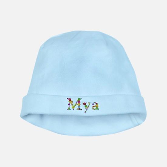 Mya Bright Flowers baby hat
